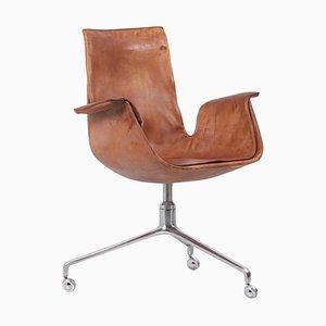 Drehbarer Tulip Chair von Preben Fabricius & Jørgen Kastholm für Kill International, 1960er