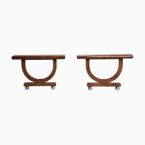 Italian Art Deco Thuja Briar Console Tables, 1930s, Set of 2