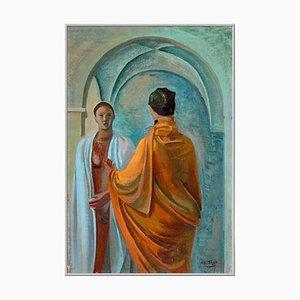 Confidenze Öl auf Leinwand Gemälde von Mario Tozzi, 1943