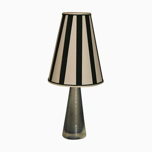 Italian Murano Light Blue Table Lamp from Venini, 1940s