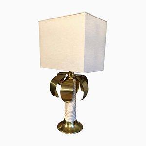 Lampada da tavolo a forma di palma bianca e dorata di Spark, anni '60