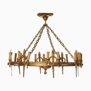 Napoleon III Golden Bronze 8-Light Rounded Chandelier