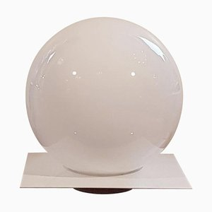 Weiße Micol Tischlampe aus Glas von Sergio Mazza, 1960er