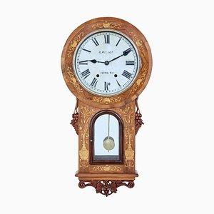 Orologio da parete in noce, XIX secolo, seth Thomas