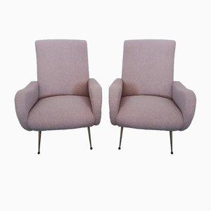 Sessel im Stil von Zanuso, 1960er, 2er Set