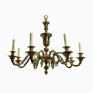 Large Antique Charles II Style English Chandeliers, Set of 2