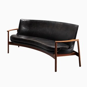 German Kidney-Shaped Rosewood Sofa by Ib Kofod Larsen for Fröscher, 1970s