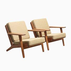 Dänische Mid-Century Sessel aus Eiche von Hans J. Wegner für Getama, 1950er, 2er Set