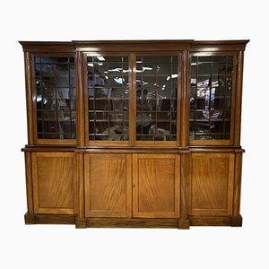 Viktorianisches Bücherregal aus Mahagoni, 19. Jh
