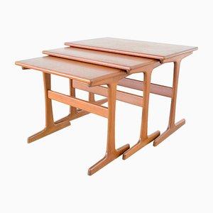 Mid-Century Nesting Tables from Vildbjerg Møbelfabrik, 1960s