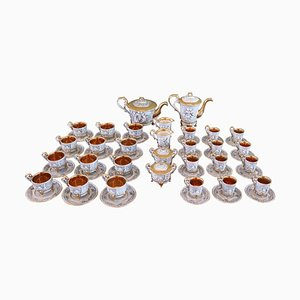 Porcelain Tea and Coffee Set from Capodimonte, 1920s, Set of 58