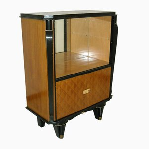 Art Deco Rosewood and Sliding Glass Cupboard, 1940s