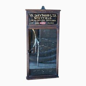 Vitrina de tienda antigua de W. Saynor Ltd