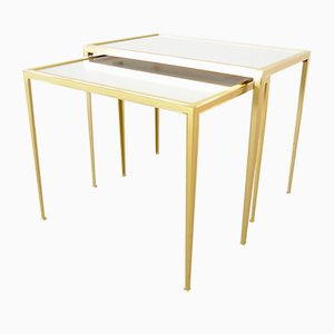 Hollywood Regency Gilded Nesting Tables from Vereinigte Werkstätten Collection, 1950s