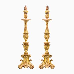 18th Century Spanish Candleholders, Set of 2