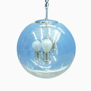 Glas Deckenlampe von Doria Leuchten, 1960er