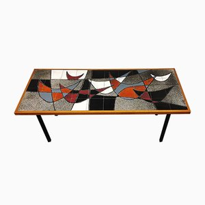 Mid-Century Ceramic Coffee Table from Vigneron, 1960s