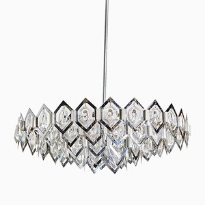 Vintage Chrome Geometric Pendant Lamp, 1960s