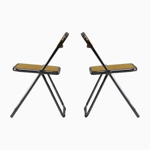 Model Plia Folding Dining Chairs by Giancarlo Piretti for Castelli / Anonima Castelli, 1970s, Set of 2