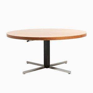 AMid-Century Adjustable Round Coffee Table, 1960s