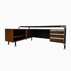 Rosewood Presidents Desk by Ico & Luisa Parisi for MIM, 1960s