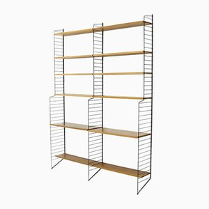 Swedish Modular Teak Shelving Unit by Strinning, Kajsa & Nils ''Nisse'' for String, 1960s