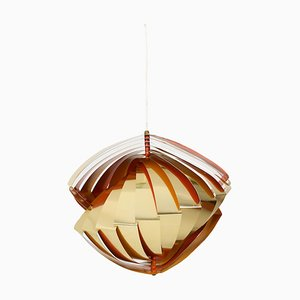 Model Konkylie Pendant Lamp by Louis Weisdorf for Lyfa, 1960s