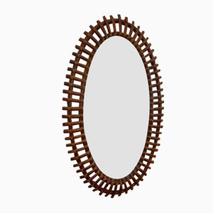 Bamboo and Rattan Mirror, 1960s