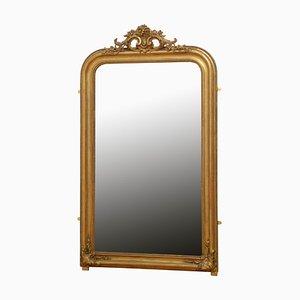 Espejo francés de madera dorada, siglo XIX