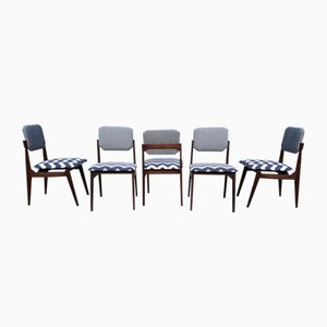 Rosewood Dining Chairs, 1950s, Set of 6