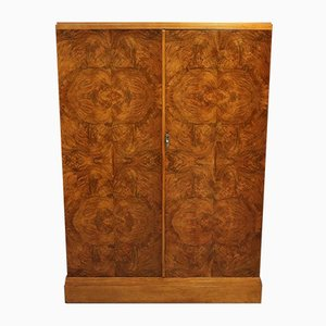 Vintage Burl Walnut Wardrobe from Compactom, 1920s