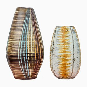Keramik Vasen, 1960er, 2er Set