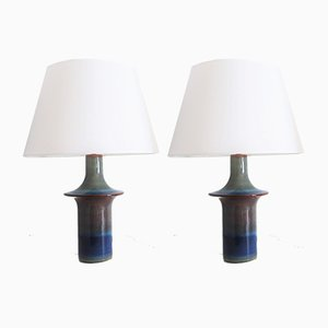 Danish Ceramic Table Lamps from Søholm, 1960s, Set of 2