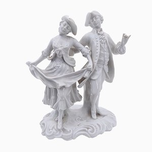 Statue Mid-Century Style Rococo en Porcelaine de Richard Ginori, Italie, 1960s
