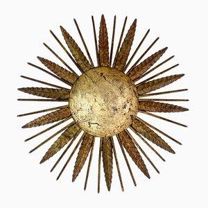 Lampada da sole in metallo forgiato, Spagna, anni '50