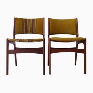Dänische Esszimmerstühle, 1960er, 2er Set