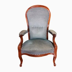 Louis Philippe Walnut Lounge Chair
