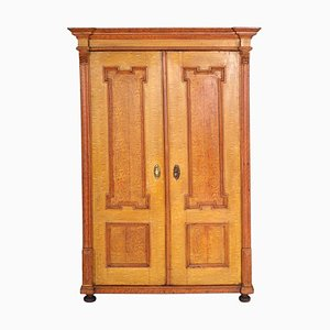 Antique Neoclassical Austrian Lacquered Solid Wood Cabinet