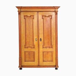 Mueble austriaco antiguo neoclásico de madera maciza lacado