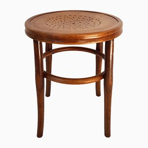 Antique Austrian Bentwood Stool from Josef Hofmann, 1900s