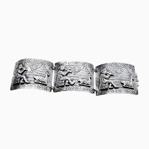 Vintage Peruvian Silver Bracelet from Industria Peruana, 1920s