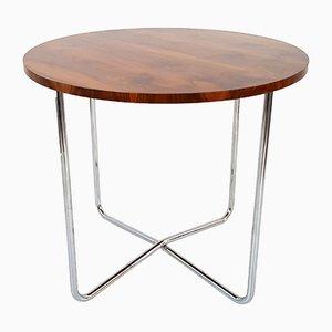 Bauhaus Chrome Walnut Table from Vichr, 1930s