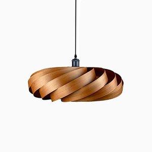 Lampada a sospensione in legno di ciliegio in legno di Manuel Döpper