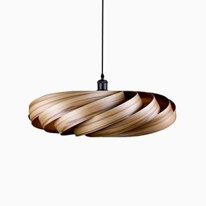 Large Satin-Walnut Andromeda Pendant Lamp by Manuel Döpper