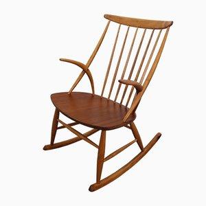Rocking Chair Mid-Century par Illum Wikkelsø pour Niels Eilersen