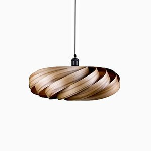 Satin-Walnut Andromeda Pendant Lamp by Manuel Döpper