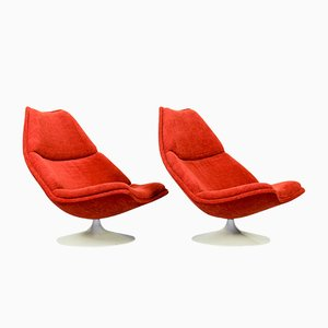 Mid-Century Model F510 Lounge Chairs by Geoffrey Harcourt for Artifort, 1960s, Set of 2