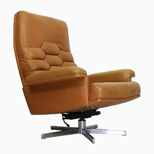 Vintage Swiss Model DS 35 Swivel Armchair by Robert Haussmann for de Sede, 1970s
