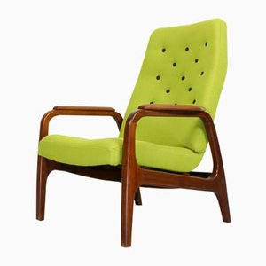 Vintage Dutch Teak Lounge Chair, 1960s