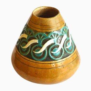 Vase Art Nouveau en Céramique par Edmond Lachenal, France, 1920s